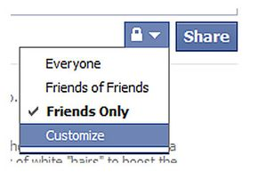 Use the lock icon when you make a status update to override your Facebook privacy settings for that single post.