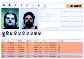 FaceIt software compares the faceprint with other images in the database.