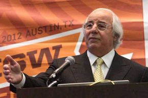 """Frank Abagnale speaks onstage at the event """"Catch Me If You Can: Frank Abagnale 10 Years Later"""" during the 2012 SXSW Festival."""