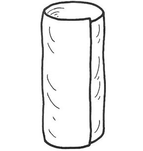 Bring ends of fabric together to make a tube.