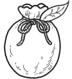 Tuck leaf into yarn.