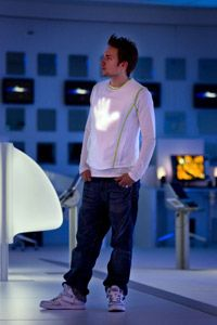 Koninklijke Philips Electronics N.V. A model wears a LumaLive shirt designed by Philips.