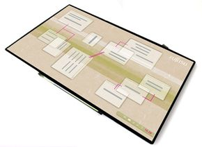 The Fabric PC has a large, flexible e-paper display.