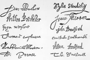 """The Brewster chair, had it been authentic, would have been of historical significance because of the status in history of William Brewster, whose signature appears on the """"Mayflower Compact"""" -- the first constitution written in America."""