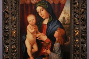 """The forged version of """"The Virgin and Child with an Angel."""""""