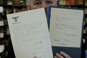 The last known copy of the fake Hitler diaries was sold at auction in 2004 to an anonymous bidder for 6,500 euros.