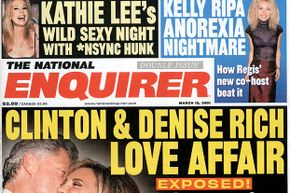 A National Enquirer from 2001: Some publications are full of untrustworthy stories.