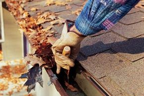 fall cleaning outdoors