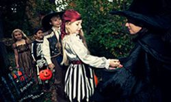 If you want to capture your little ones in costume, you should do so before it gets dark.