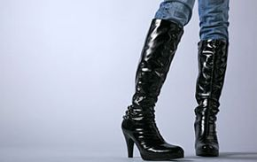 Tall boots will keep you warm and dry from September to March.