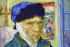 Vincent van Gogh painted this self portrait some time after fellow painter Paul Gauguin allegedly sliced off part of his ear during a bitter quarrel.