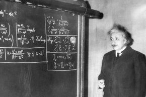 Does it really seem plausible that Einsten would have failed math as a youth? Here he is, giving a lecture to the  American Association for the Advancement of Science in 1934.