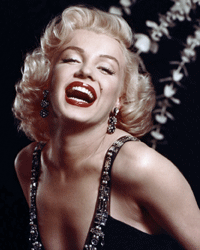Marilyn Monroe was famous for her rouged lips: Their making up required a complicated blend of colors and finishes.