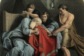 This painting depicts Joseph's father, Jacob, weeping at the sight of his son's blood-stained coat.