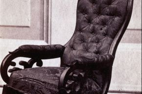 President Lincoln's chair remains on display at the Henry Ford Museum in Dearborn, Mich.