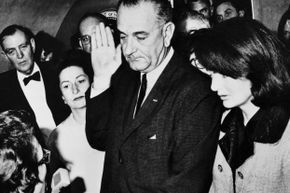 Jackie Kennedy's suit, which she was still wearing when Lyndon B. Johnson was sworn in as president, can't be publicly displayed until at least 2063.