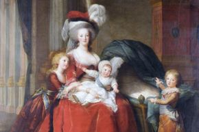 A portrait of signature-bungler Marie-Antoinette and her children, painted by Elisabeth Vigee-Lebrun