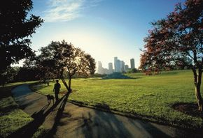 Visitors to Atlanta take in the sunny side of this cosmopolitan city.