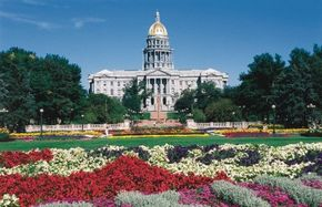 The grounds of Colorado's statehouse are as majestic as the building.
