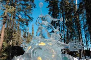 ­                Beautiful, but only for a short time, the amazing sculptures created at the                                  World Ice Art Championships will last until the first thaw.