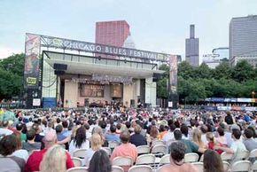 ©City of Chicago.                                  Crowds are captivated by the soulful melodies and beats at the                                                  Chicago Blues Festival.