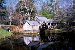 The wonderfully preserved Mabry Mill is one of the most popular attractions on the Blue Ridge Parkway.>