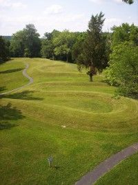 ©Kristin D. Warbington.                                  The enigmatic Serpent Mound winds                                                  over one-quarter mile.