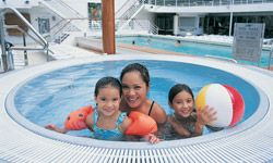 Smaller wading pools are a good option for young children still learning to swim.