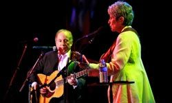 Paul Simon and Joan Baez perform at the 2010 Children's Health Fund Benefit Gala in New York, N.Y.
