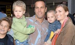 "Jack Johnson and his family attend the world premiere of ""Curious George"" in Los Angeles."
