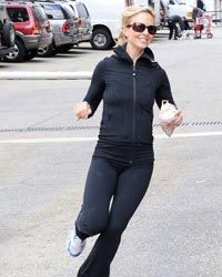 Elisabeth Hasselbeck sports workout gear you can run errands in.