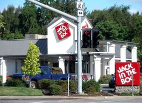Image by Coolcaesar, used under the GNU Free Document License                              After being involved in a foodborne illness outbreak in the 1990s, Jack in the Box became an industry advocate for food-safety practices.