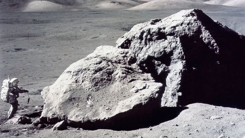 Harrison Hagan Schmit, rock samples, moon