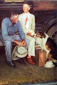 """Norman Rockwell's """"Breaking Home Ties"""" captures mid-century fatherhood."""