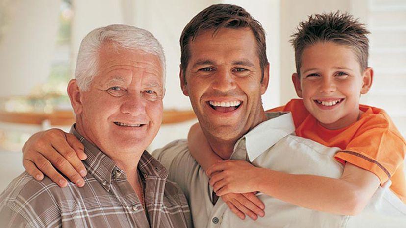 3 generations of men