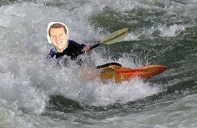 This is what it would look like if I had a kayak.