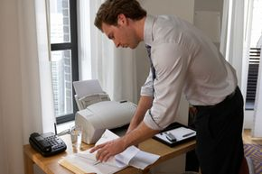 The modern office relies on the fax machine to exchange documents between offices.
