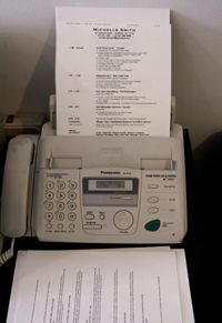 Fax machines are frequently used to send resumes and other important papers.