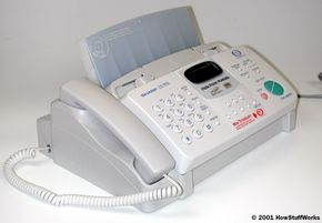 Before e-mail, a fax machine first allowed people to send a message to someone anywhere in the country in seconds.