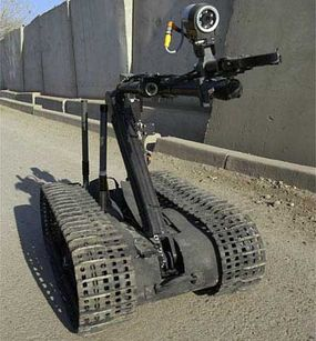 """The """"Talon"""" was employed on January 6, 2005, by the 184th EOD Robotics Team stationed in Baghdad, Iraq."""