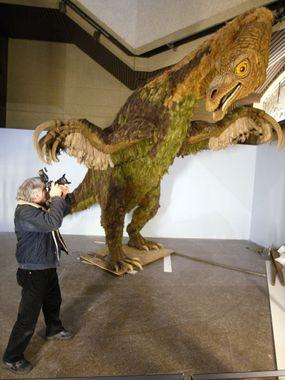 Therizinosaurus, dinosaur model