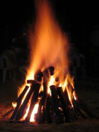A good tepee fire will provide excellent air flow.