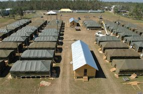 An optional emergency housing site under construction in Long Beach, Mississippi