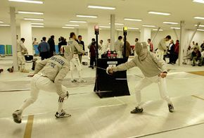 Opening day of the Fencing Grand Prix 2004 in Athens, Greece