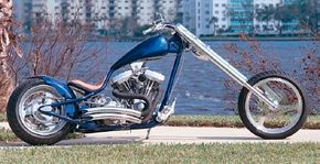 Fendered Spoon is a custom chopper with giant 300-mm tires.