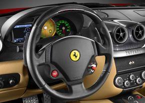The Ferrari 599 GTB Fiorano delivers a wealth of information in the cockpit.