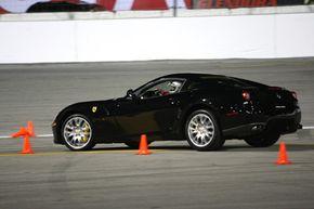 The Ferrari 599 GTB Fiorano can achieve 0.97g on the skidpad.