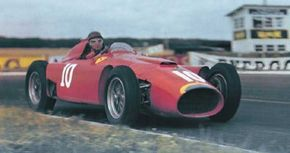 The Ferrari D50 featured Formula 1's first V-8 engine.