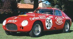 The Ferrari 375 MM road racer.