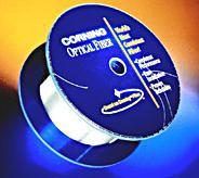 Finished spool of optical fiber